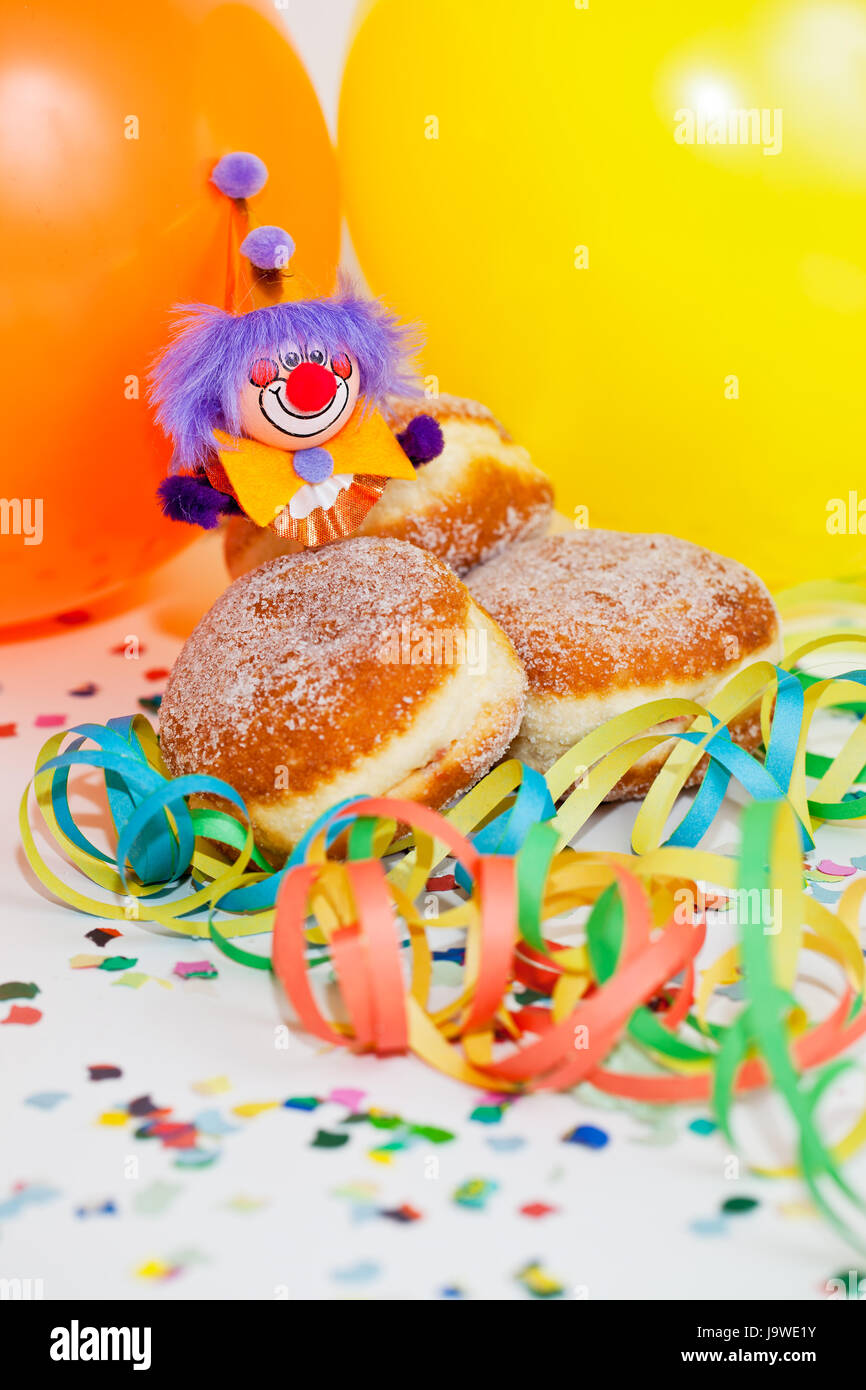 Krapfen mit clown Stockfoto