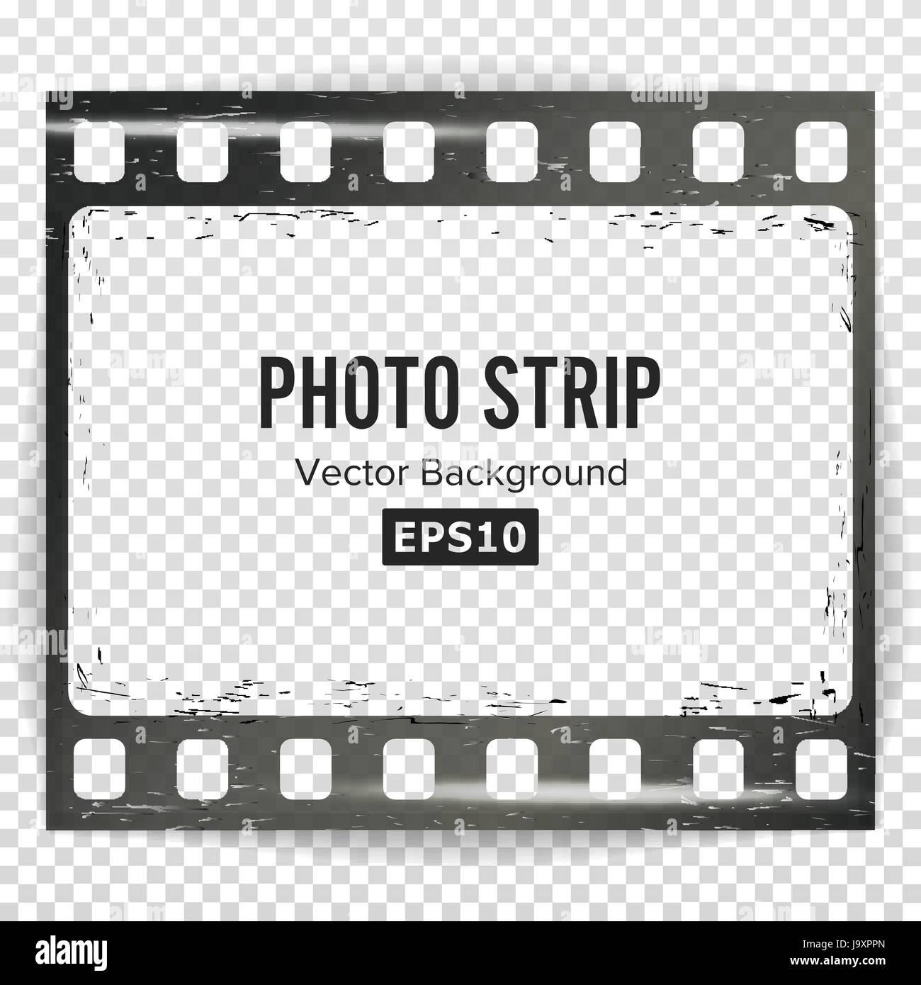 Foto-Streifen Vector. Realistische leeren Rahmen Strip Blank. Grunge ...