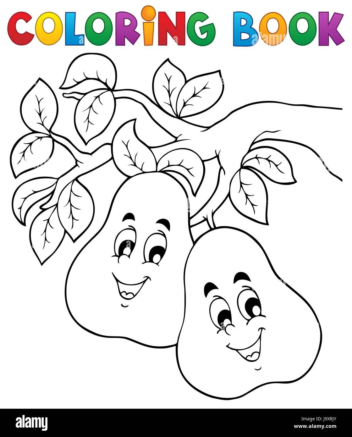 Farbe, Progenies, Früchte, Obst, Farbe, Birne, Birne, gemalt, färben ...
