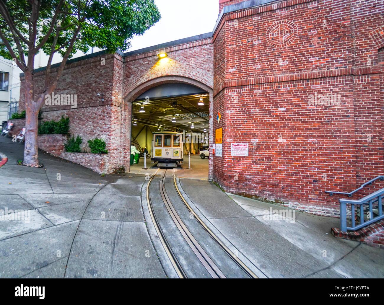 Kabel PKW Garage Und Museum In San Francisco   SAN FRANCISCO   CALIFORNIA