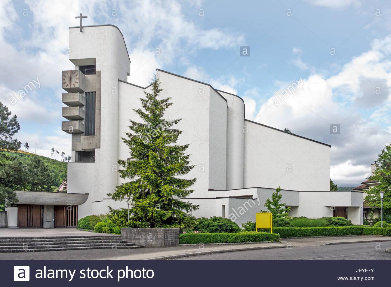 Kirche, modern, moderne, Baustil, Architektur, Architektur Stockfoto ...