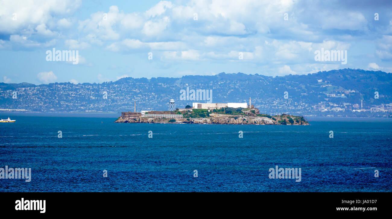 Berühmten Alcatraz Gefängnis in San Francisco - SAN FRANCISCO - CALIFORNIA - 18. April 2017 Stockbild