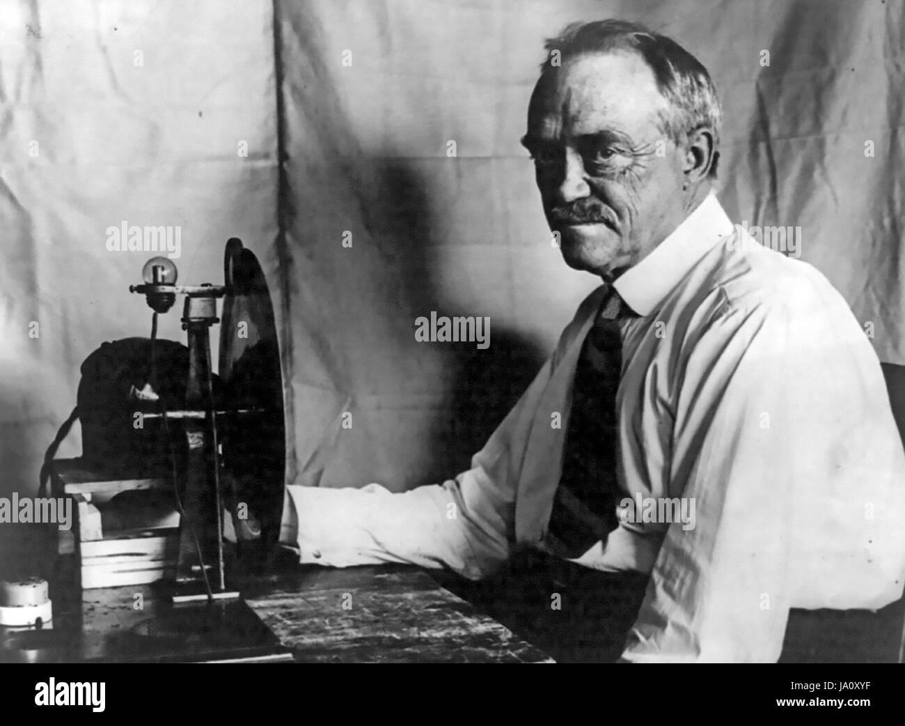 CHARLES JENKINS (1867-1934), US-amerikanischer Film- und Fernseh-Pionier. Stockbild