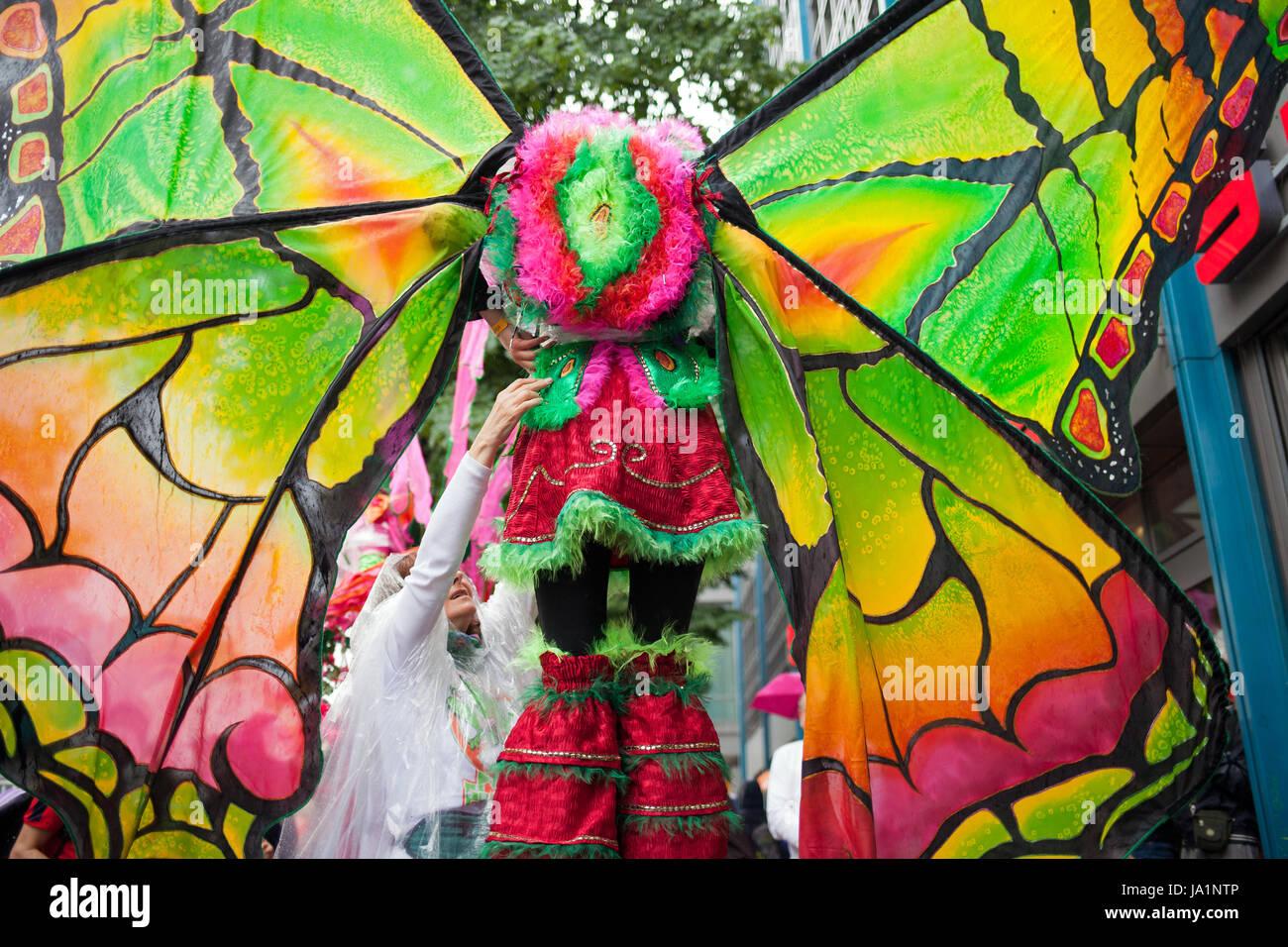 Berlin, Deutschland. 04. Juni 2017. Simon Becker/le pictorium - Karneval der Kulturen Berlin, 2017 - 04/06/2017 Stockbild