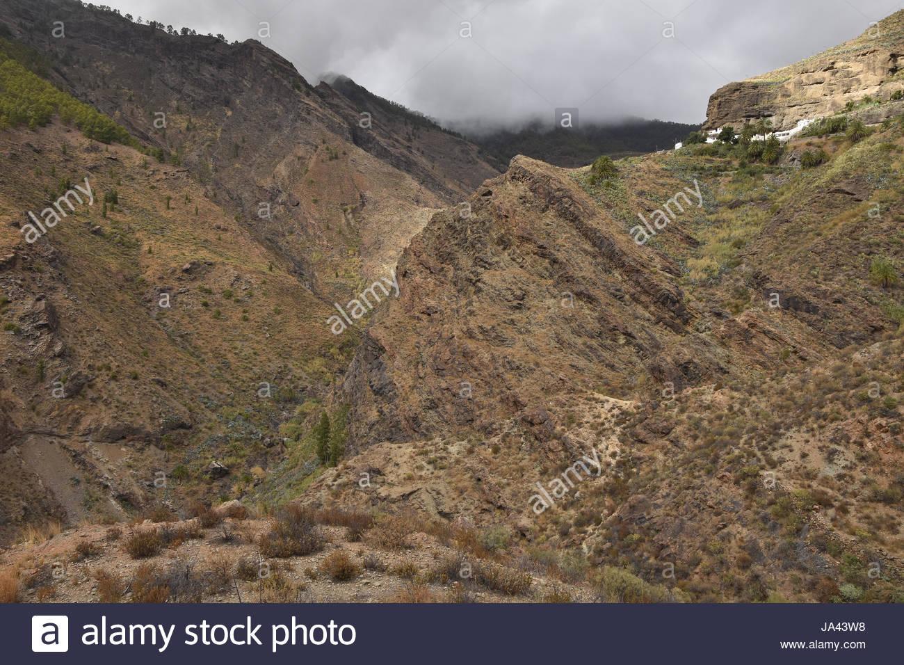 Dürren Berge von Candelaria im Nordwesten Gran Canaria Kanaren Makaronesiens (Spanien) Stockbild