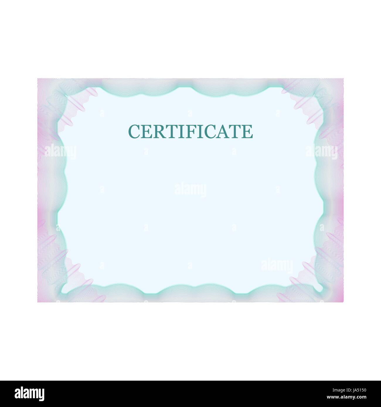 Certificate Border Stockfotos & Certificate Border Bilder - Alamy