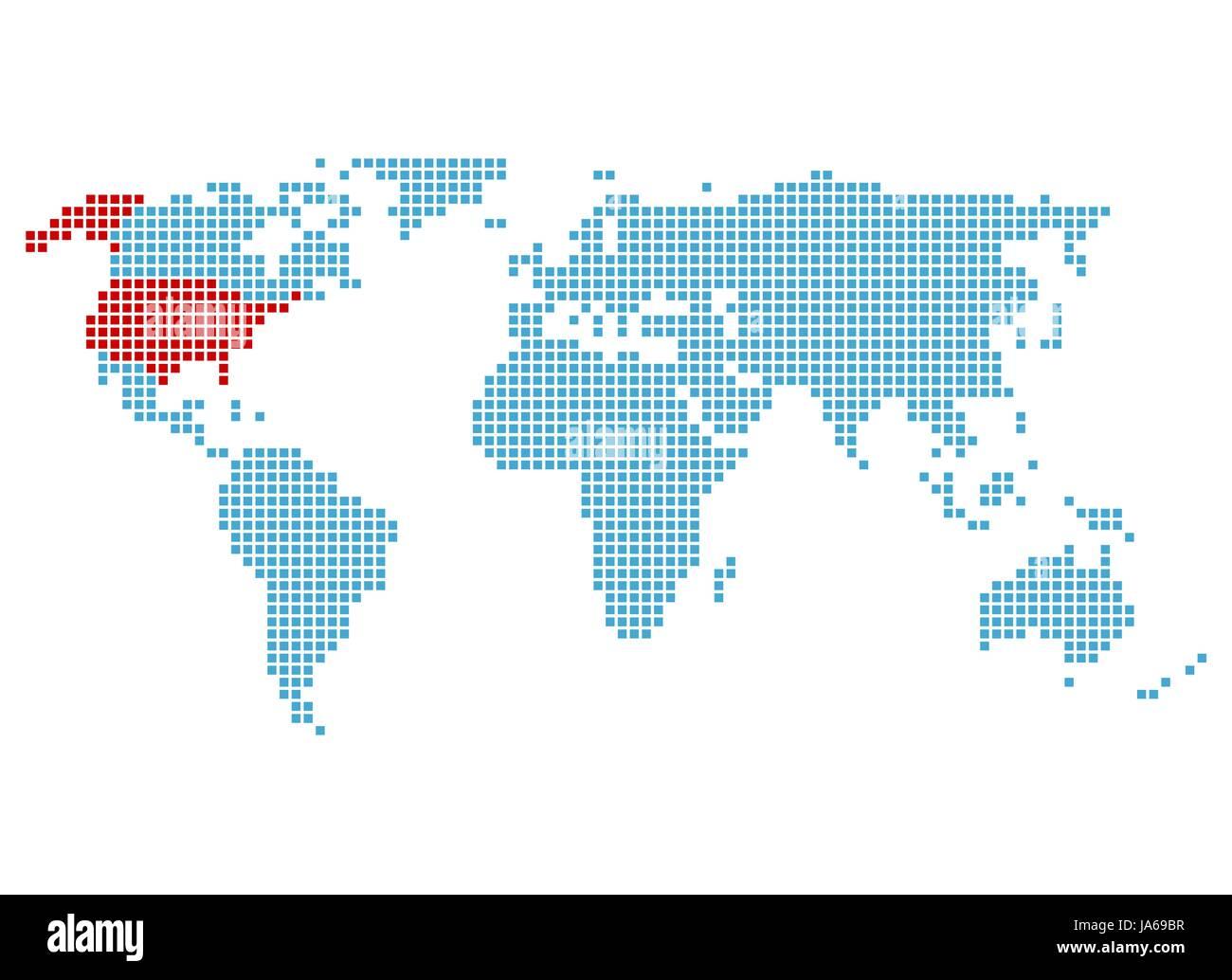 Amerika Karte New York.Usa Amerika Atlas Karte Der Welt Karte New York Von Von Blau
