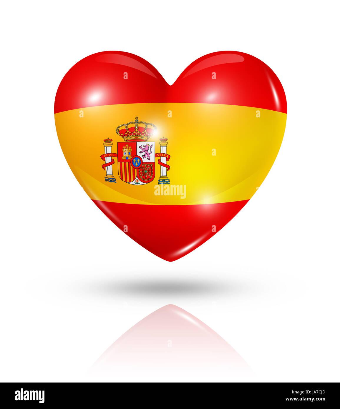 spanien flagge spanisch liebe verliebt verliebte sich in liebe herz symbol piktogramm. Black Bedroom Furniture Sets. Home Design Ideas
