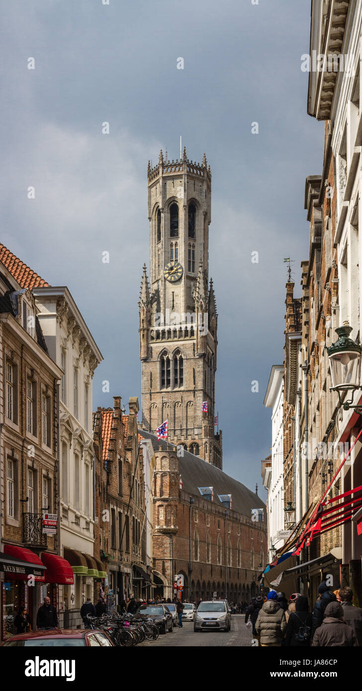 Die Unesco aufgelistet Belfried von Brügge Stockbild