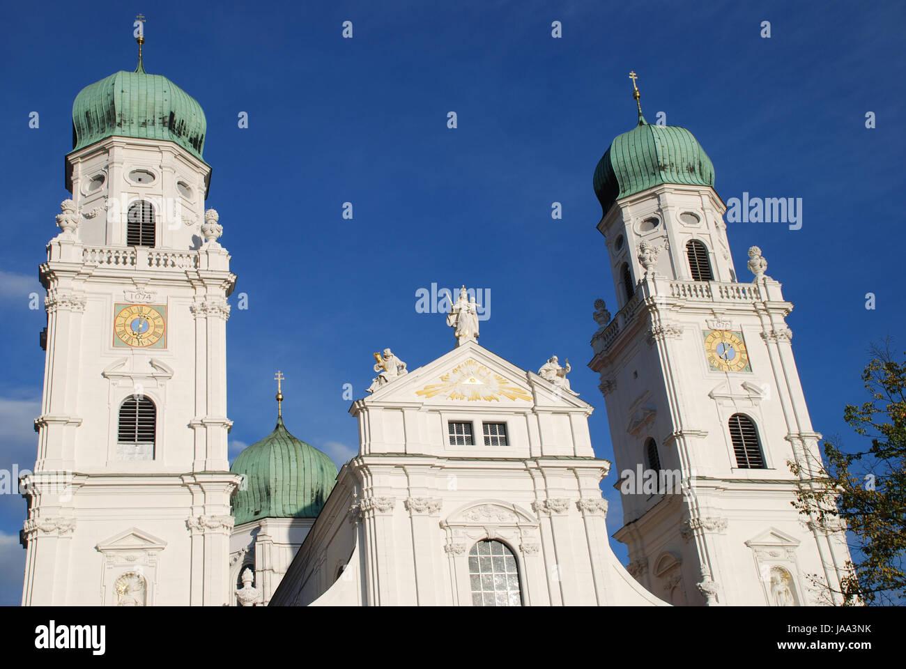 Kathedrale der Diözese Bistum Passau Bischofssitz Stockbild