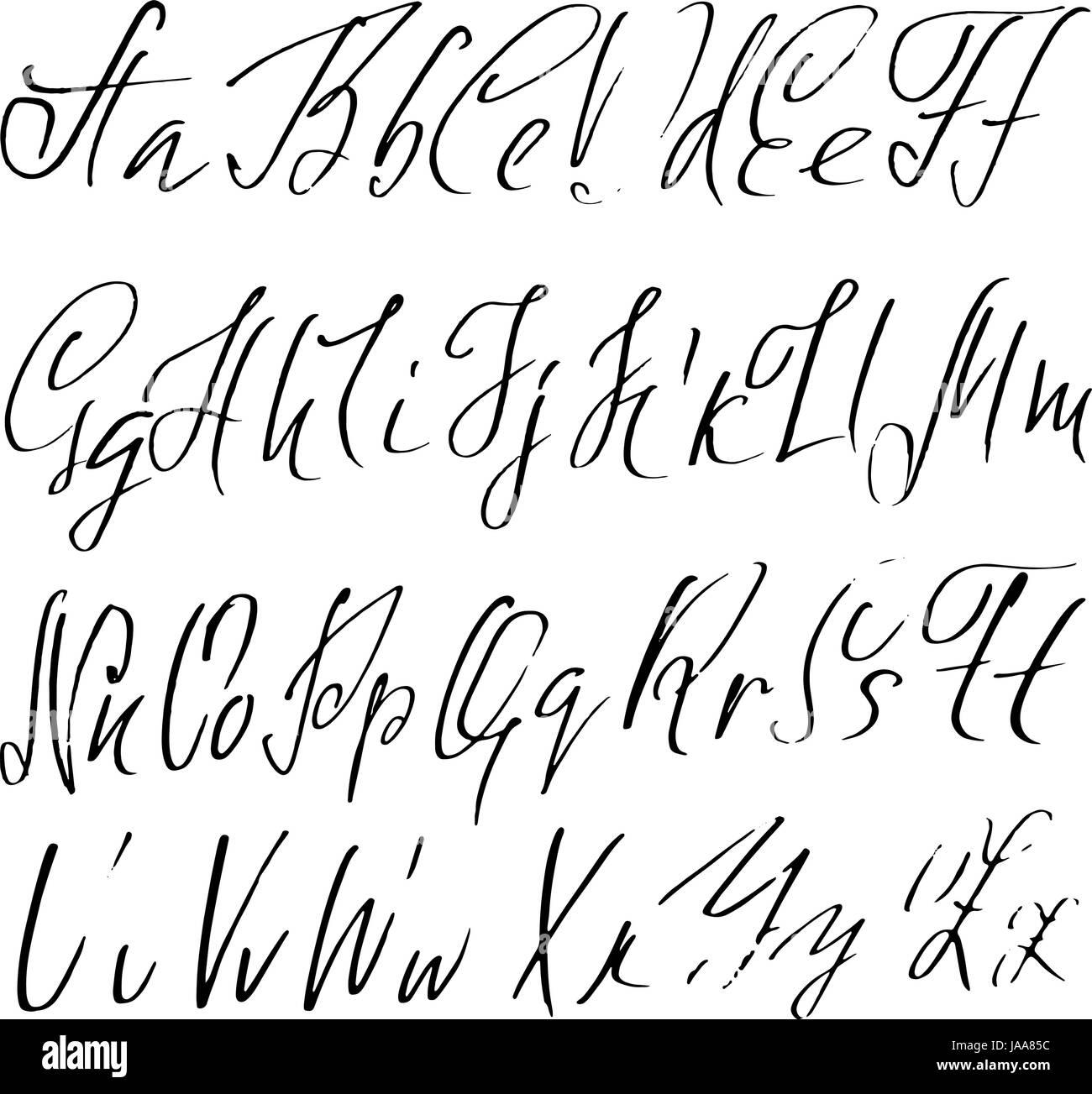 Hand Gezeichnet Elegante Kalligraphie Schrift Moderne Pinsel