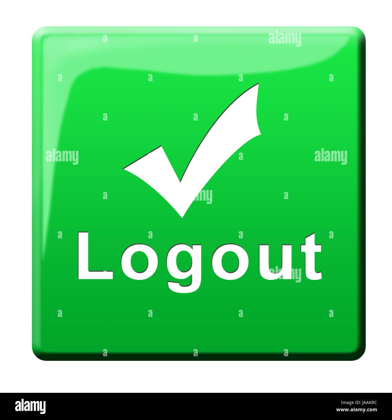 OK, Haken, Taste, Login, Logout, ja, melden, signalisieren, ok ...