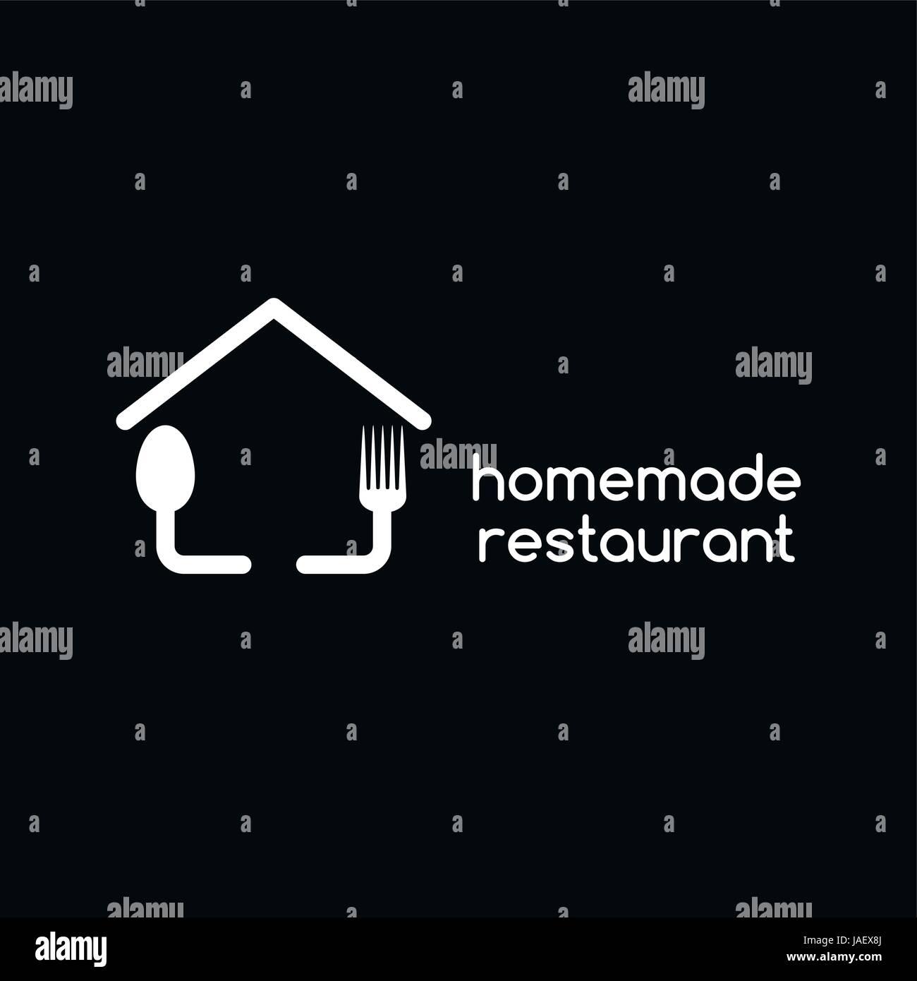 hausgemachte Restaurant Logo Schriftzug Thema Vorlage Vektor ...