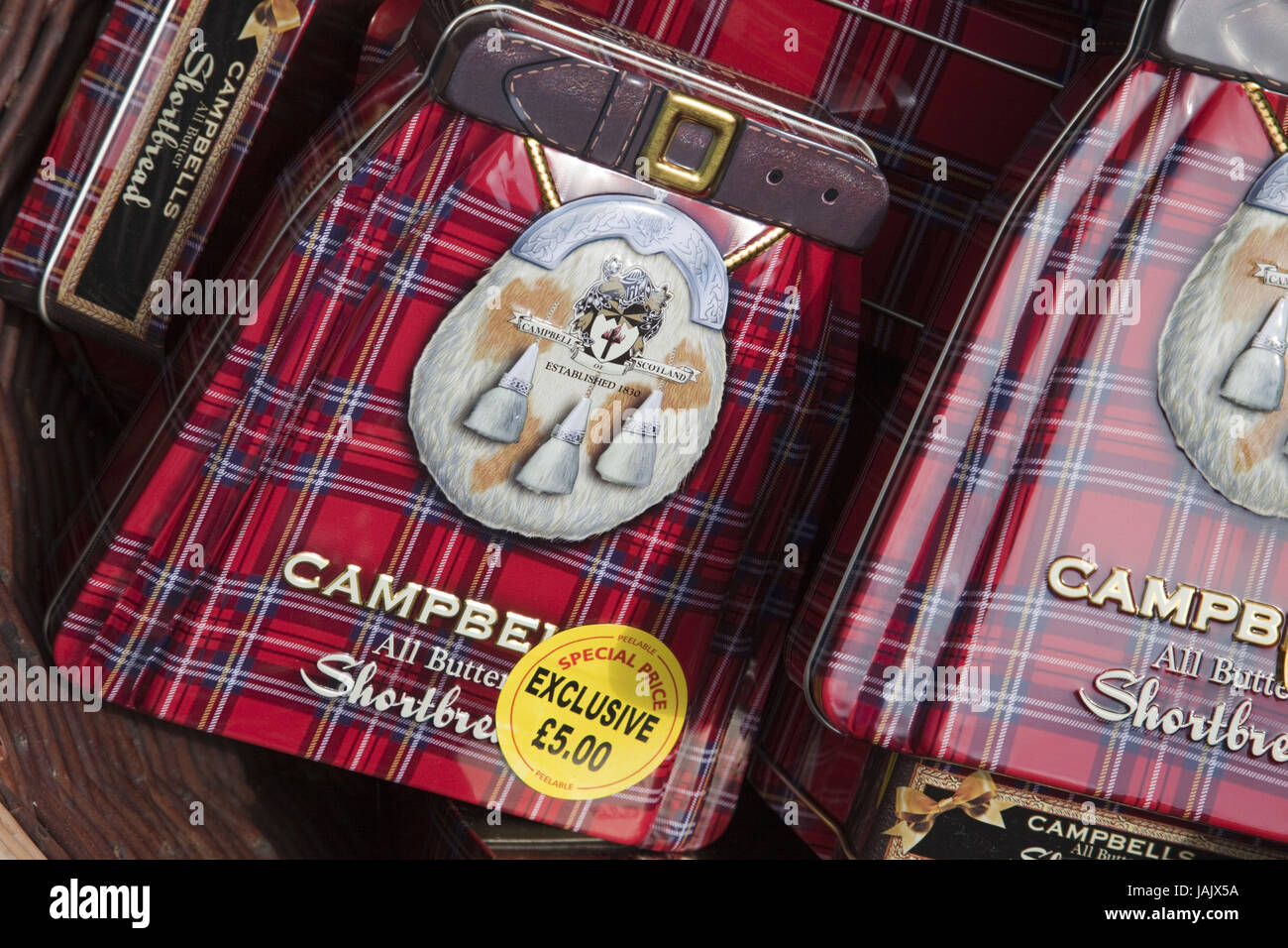 Schottland, Edinburgh, die royal Mile, Geschäft, Vertrieb, Kekse, Umschlag, traditionell, Stockbild