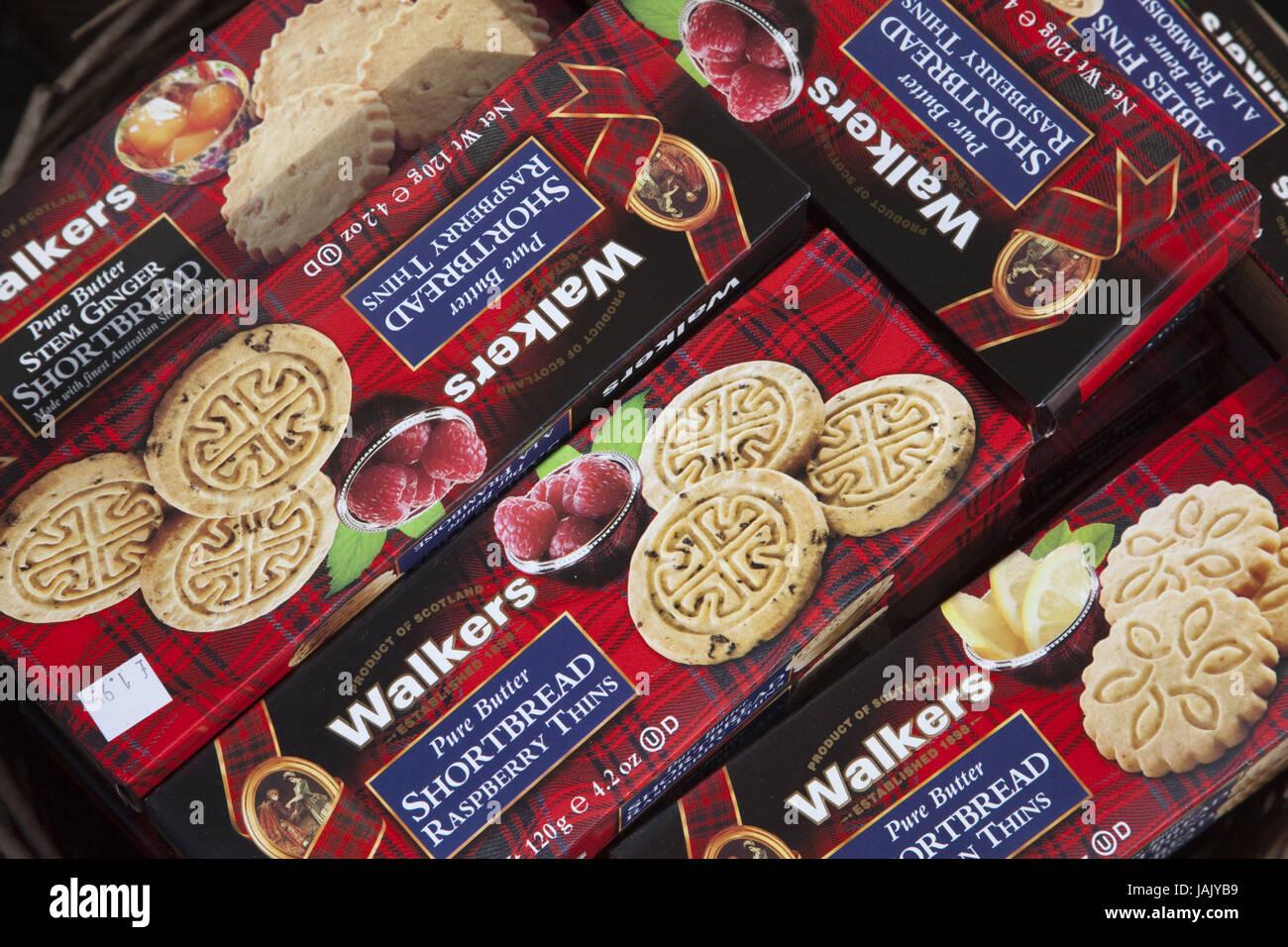 Schottland, Edinburgh, die royal Mile, Geschäft, Vertrieb, Kekse, traditionell, Stockbild