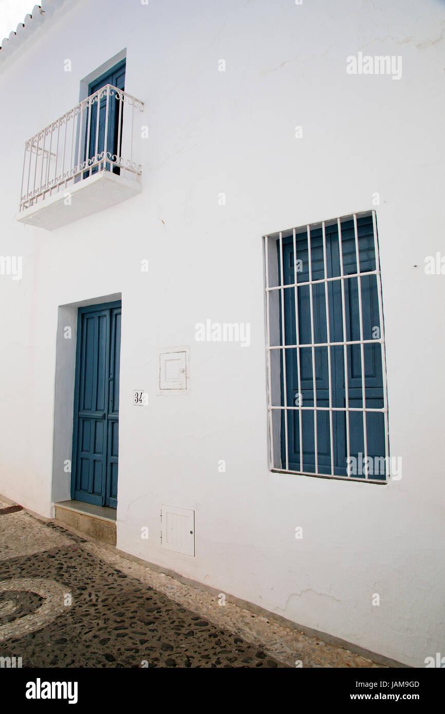 Ein Haus Auf Einer Strasse In Frigiliana Andalusien Spanien Costa