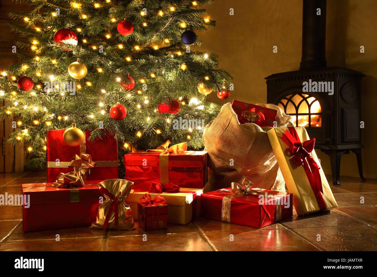 Weihnachten, Weihnachtsbaum, Illuminateds, Weihnachtsgeschenke ...