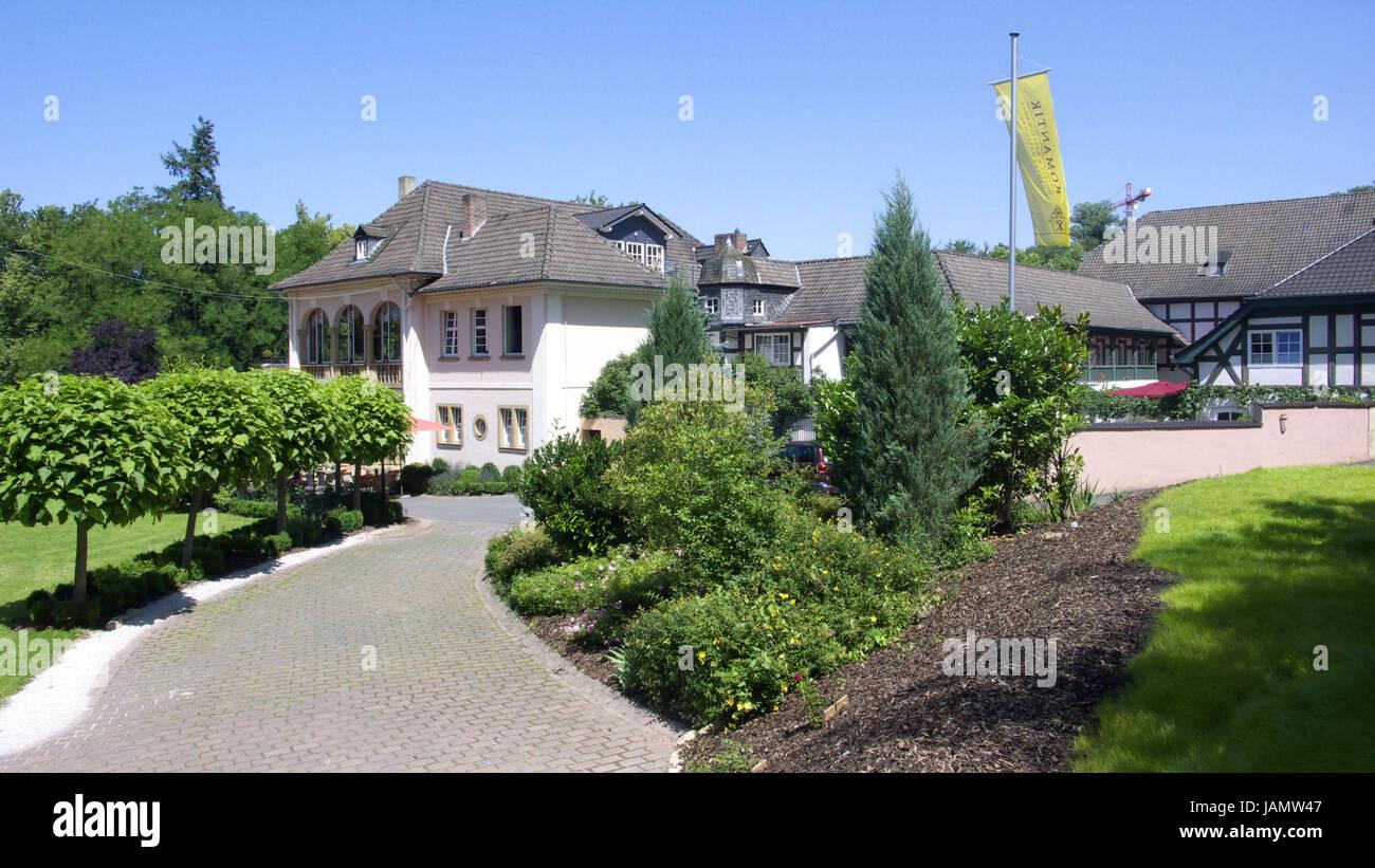 "Deutschland, Rheinland-Pfalz, Hunsrück, Bad Hause Sobern, Romantik Hotel ""BollAnt im Park"", Stockbild"