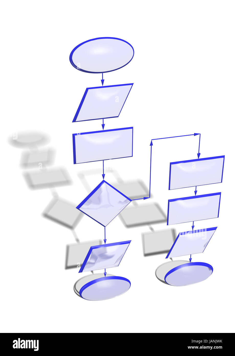 Abstract Flowchart Diagram Computer Program Stockfotos Leere Flow Chart Diagramm Verwenden Fr Die Programmierung Stockbild