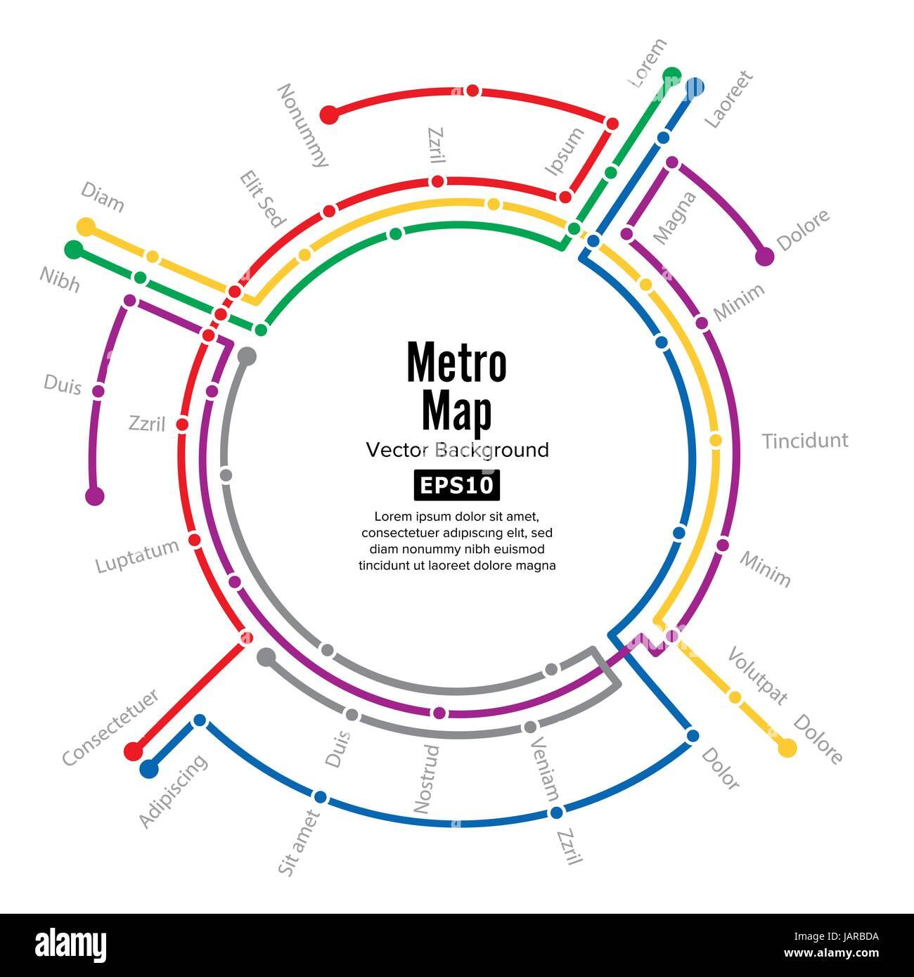 Metro Karte Vektor Plan Karte Station Metro Und U Bahn Metro