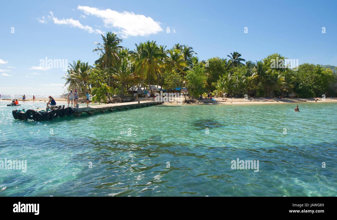 Ilet du Gosier - Gosier Insel - Le Gosier - Guadeloupe-Karibik-Insel Stockbild