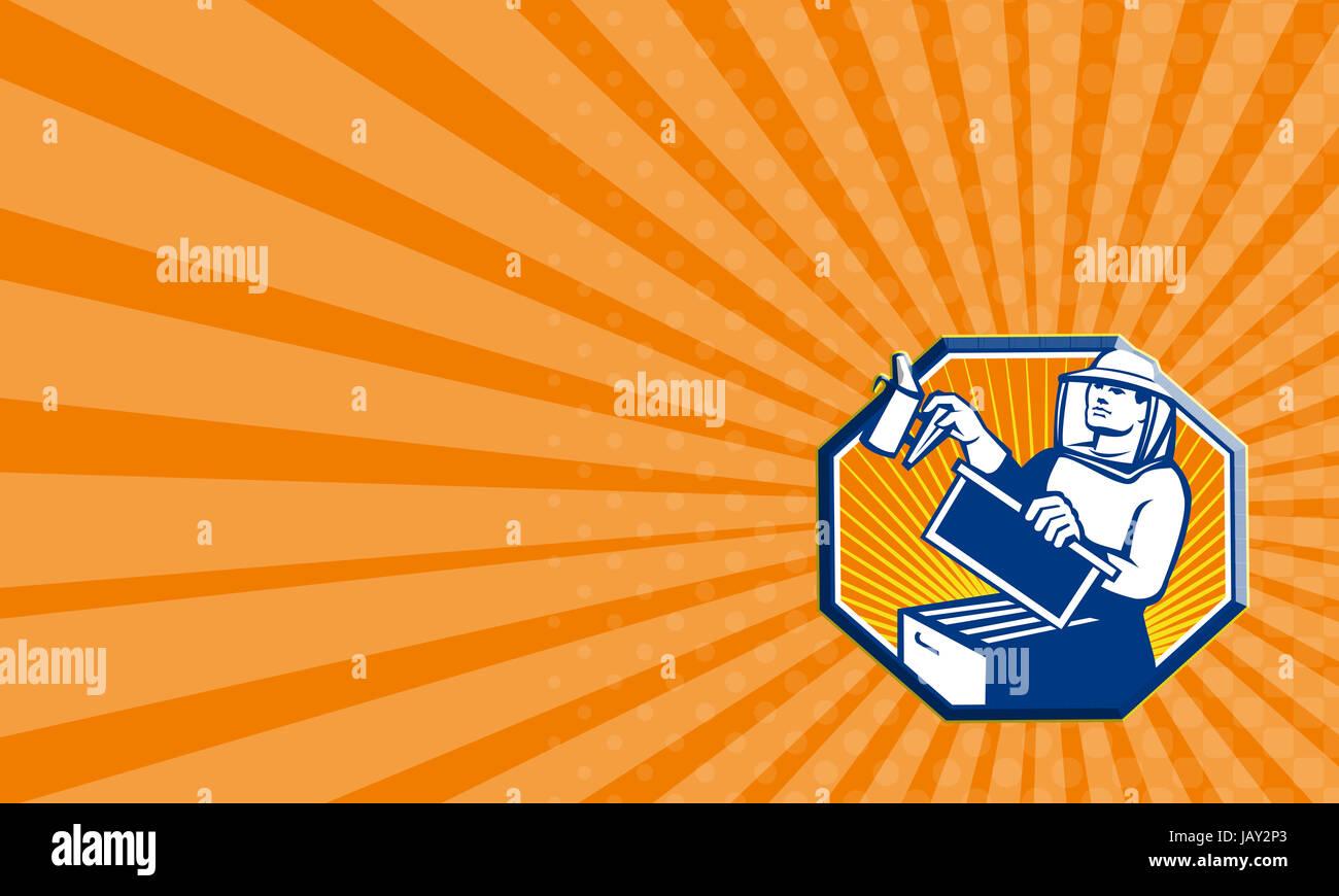 Visitenkarte Vorlage Zeigt Abbildung Von Einem Imker Honig