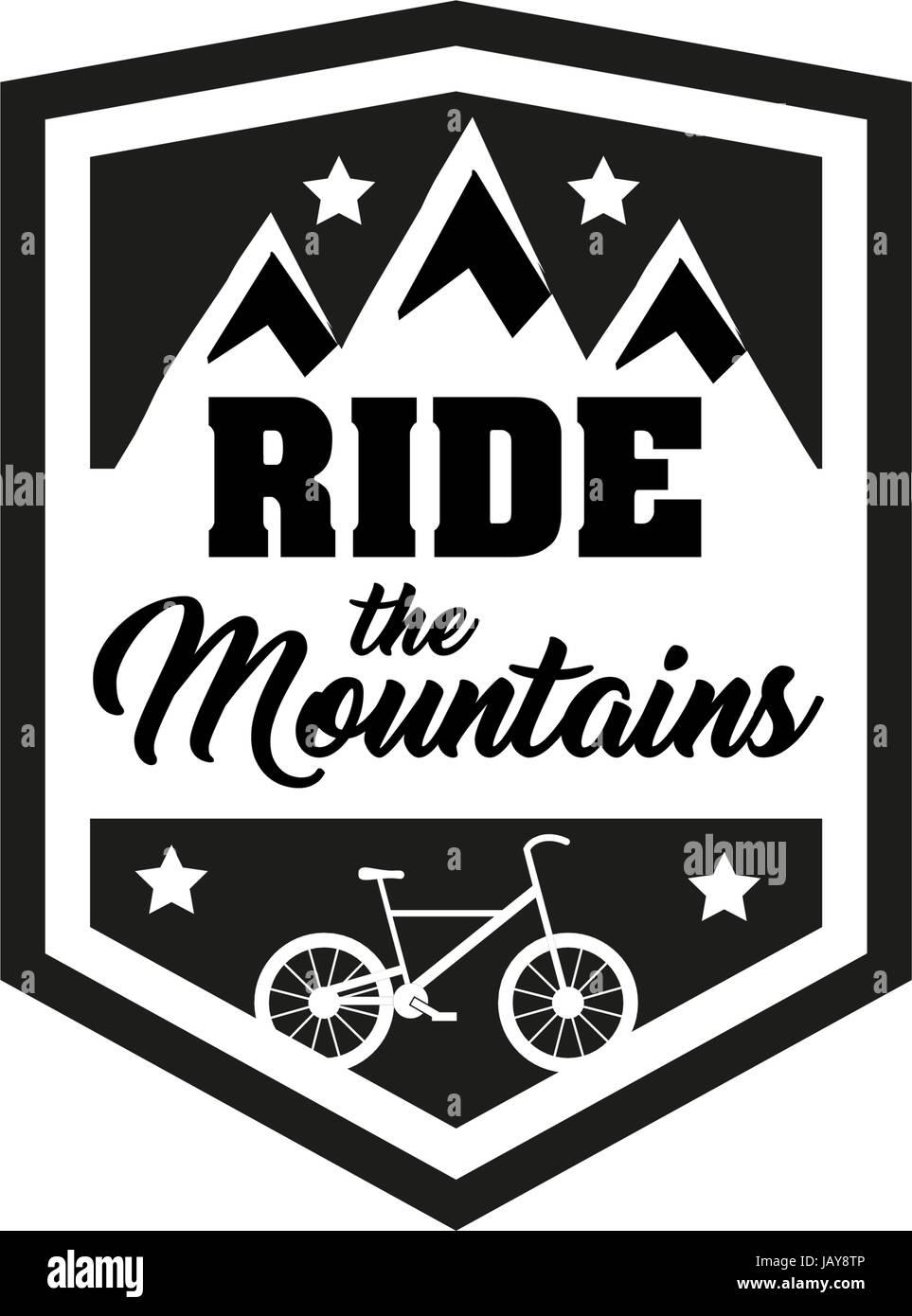 Fahren Sie Den Bergen Abzeichen Jahrgang Sport Logo