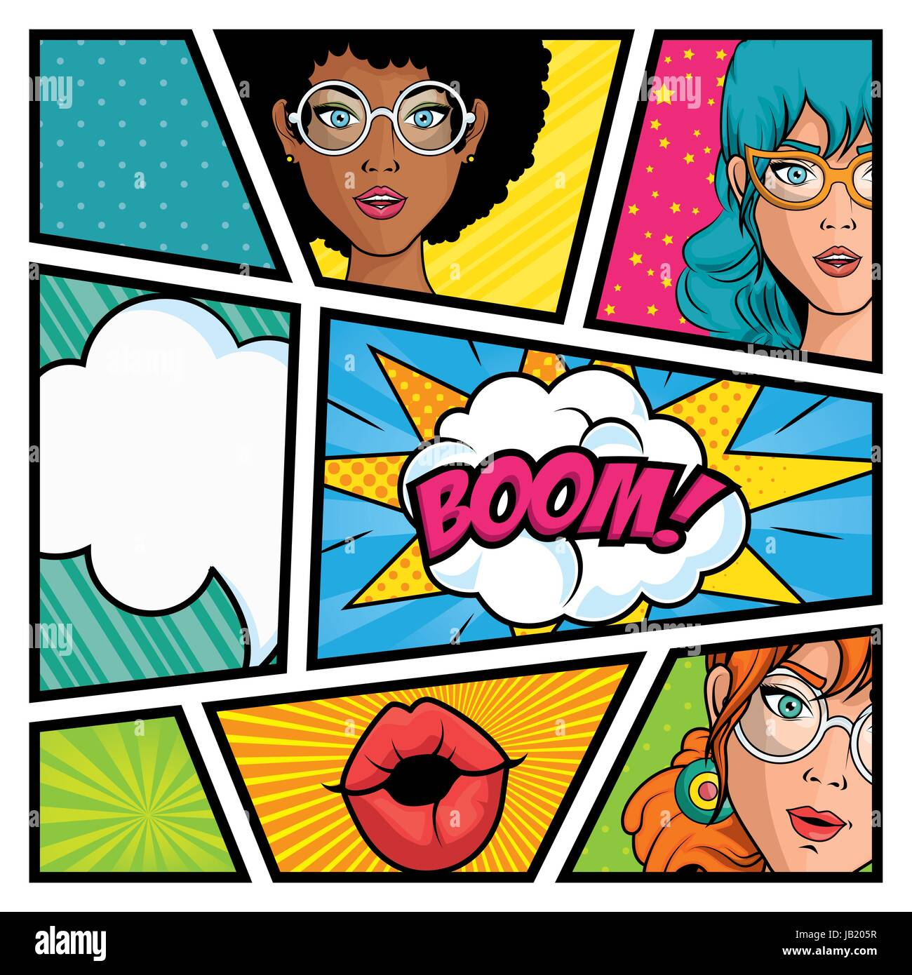 Comic-Strip-Pop Art-design Stockbild
