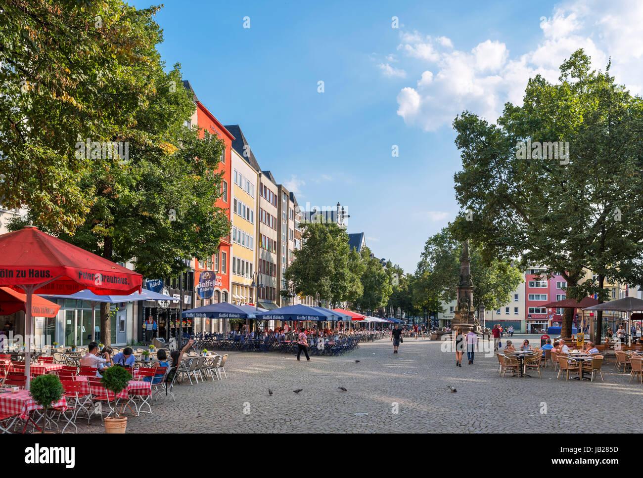 Cafés im Alter Markt (Altmarkt), Altstadt, Köln Stockbild