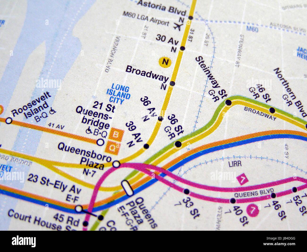 U Bahn Karte New York.New York Usa 25 Juni 2008 U Bahn Karte Von Der New Yorker U