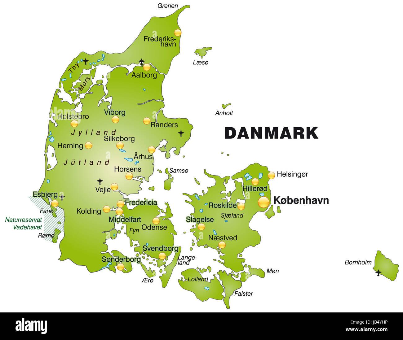 Esbjerg Karte Stockfotos & Esbjerg Karte Bilder - Alamy