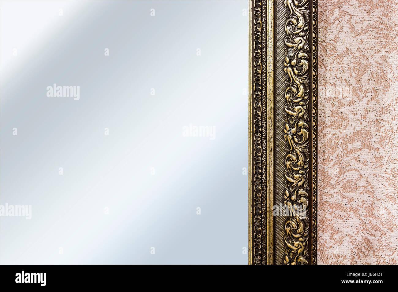 Bestandteil der Spiegel-Rahmen-Nahaufnahme Stockfoto, Bild ...