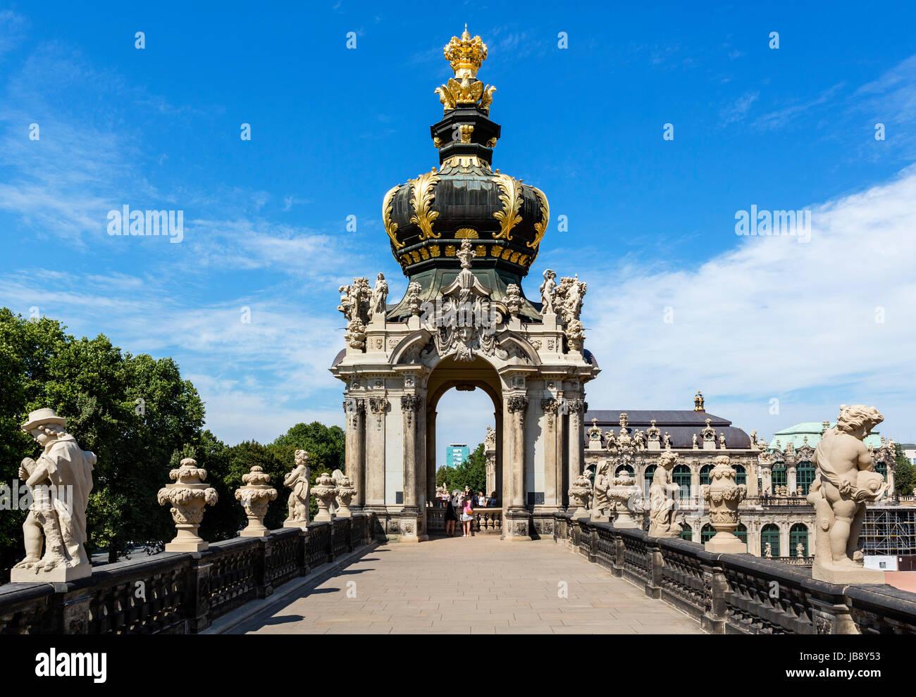 Der Zwinger Palast, Dresden, Sachsen, Deutschland Stockbild