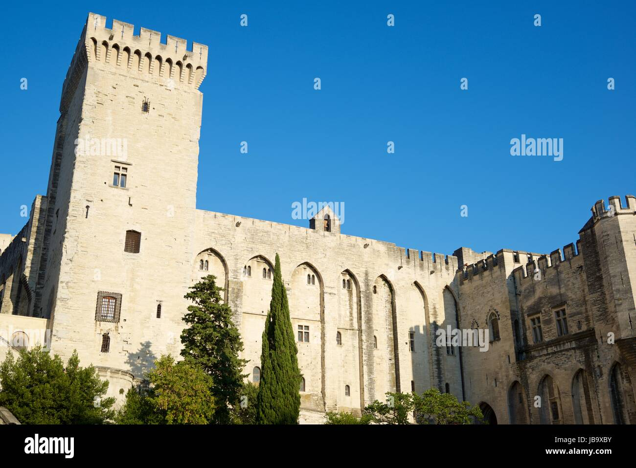 avignon view palace popes in stockfotos avignon view palace popes in bilder alamy. Black Bedroom Furniture Sets. Home Design Ideas