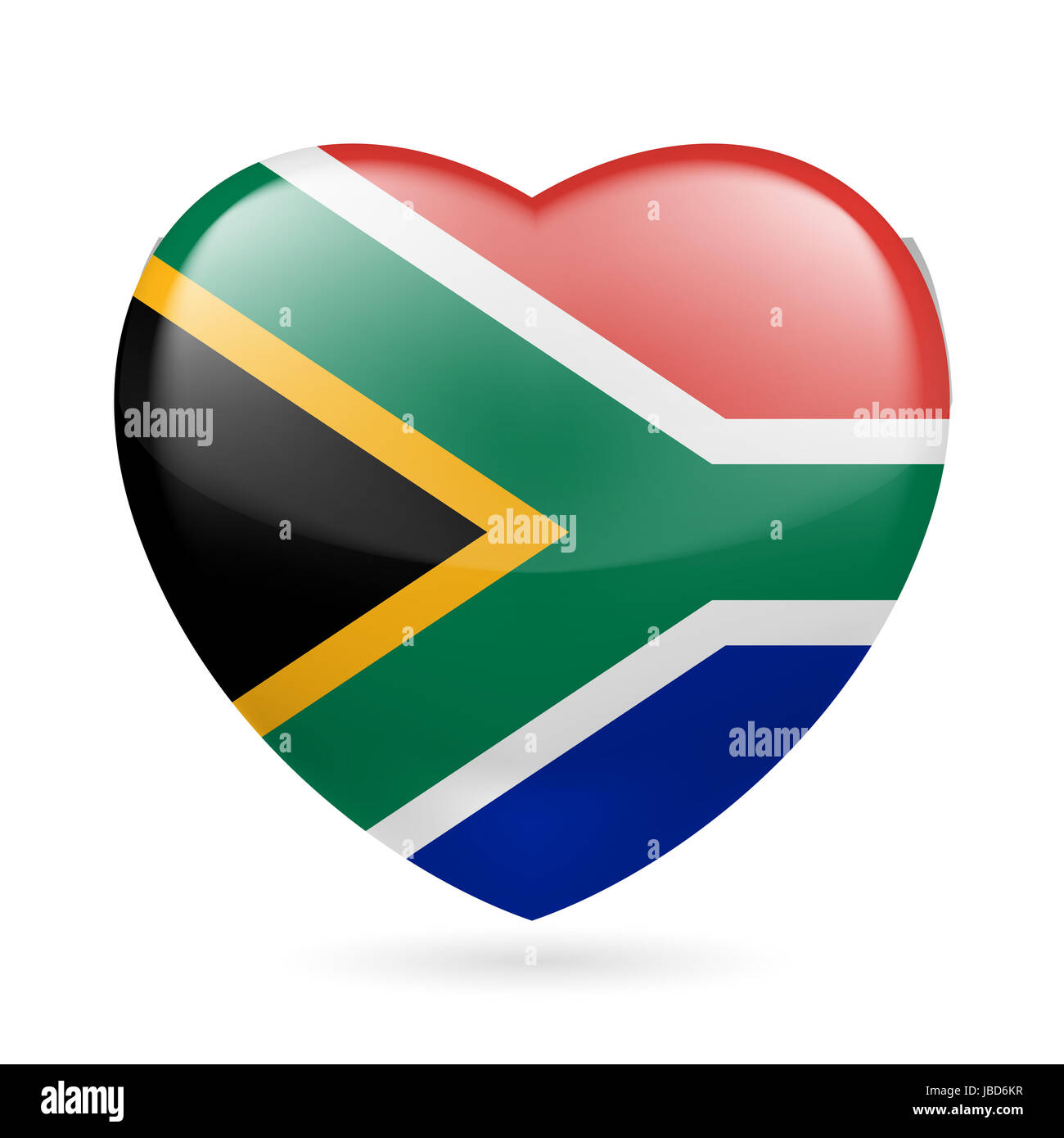 Glossy Flag South Africa Stockfotos & Glossy Flag South Africa ...
