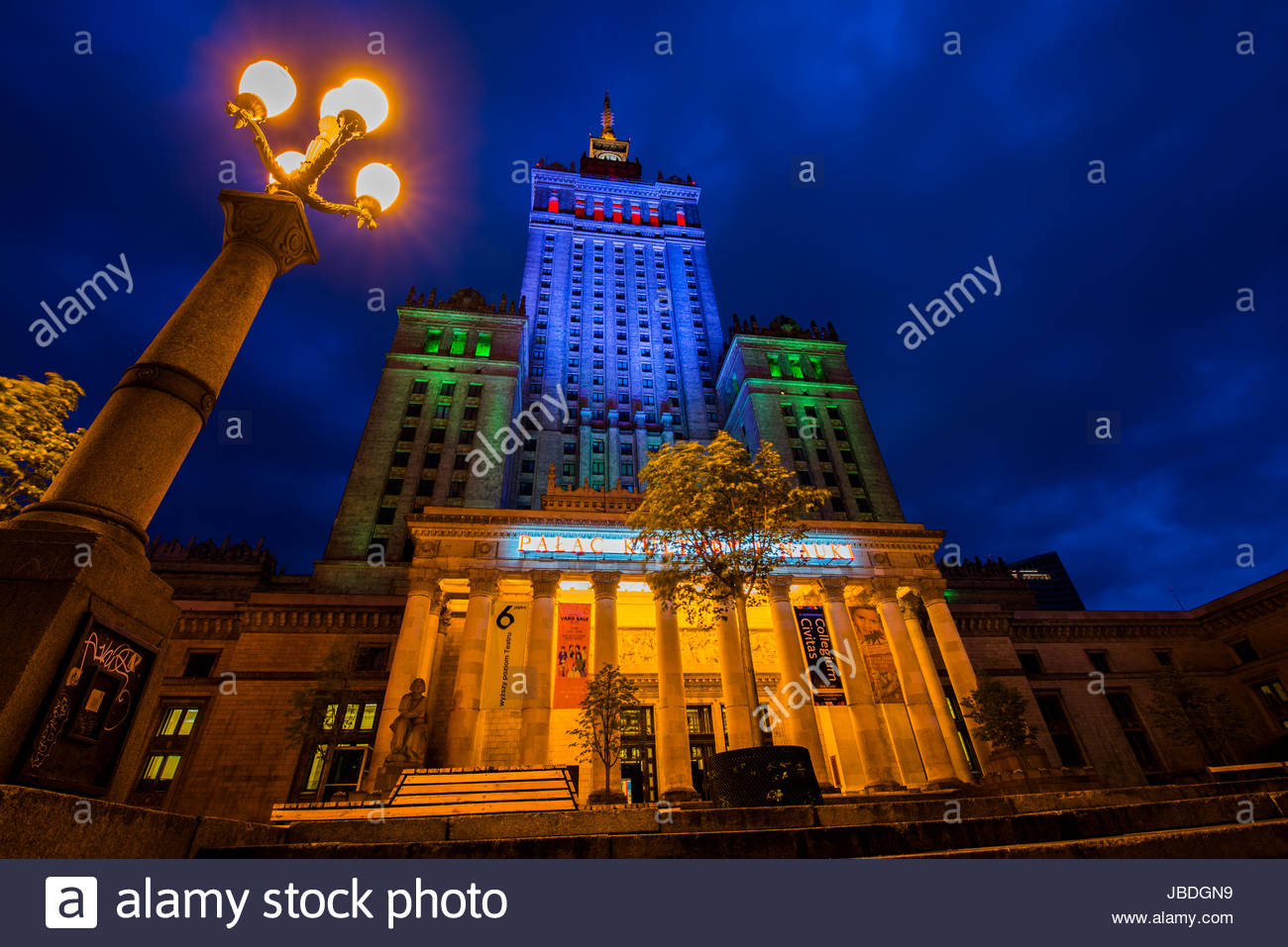 Palast der Kultur und Wissenschaft Stockbild