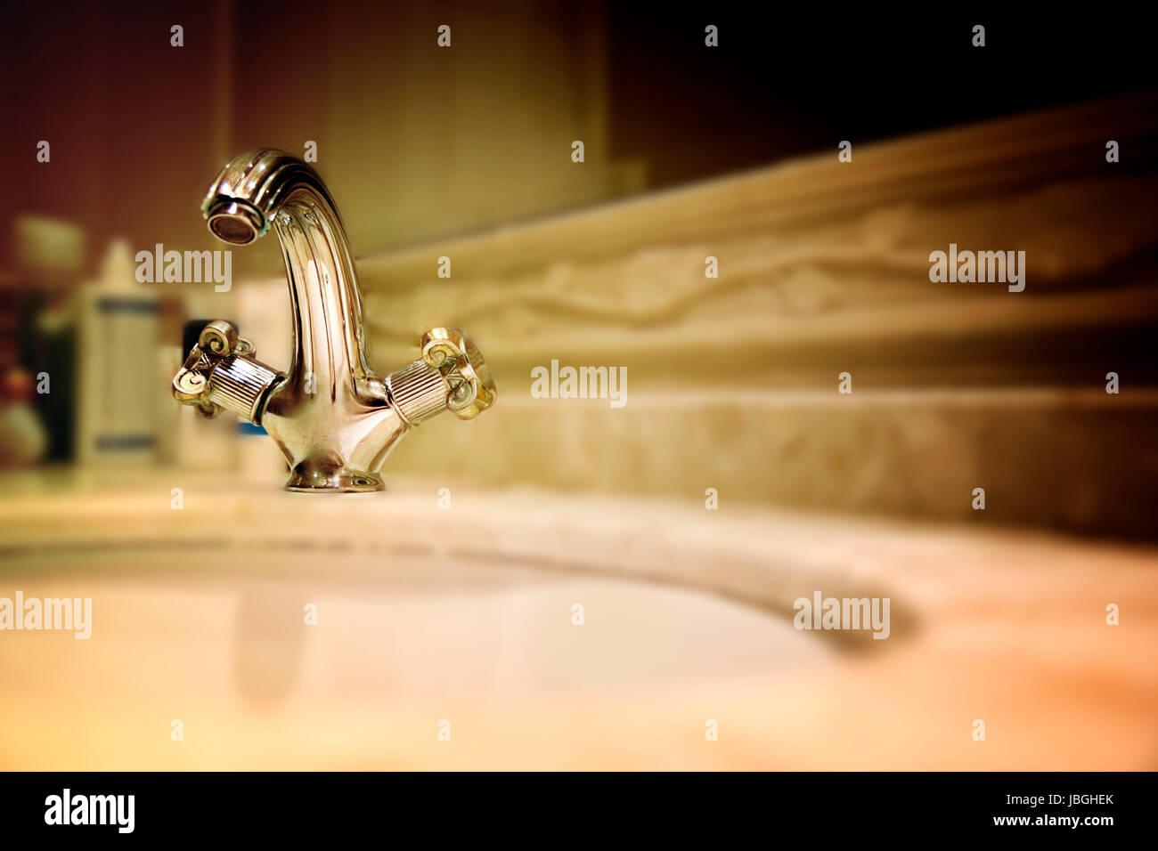Nahaufnahme Von Einem Granit Waschbecken. Stockbild