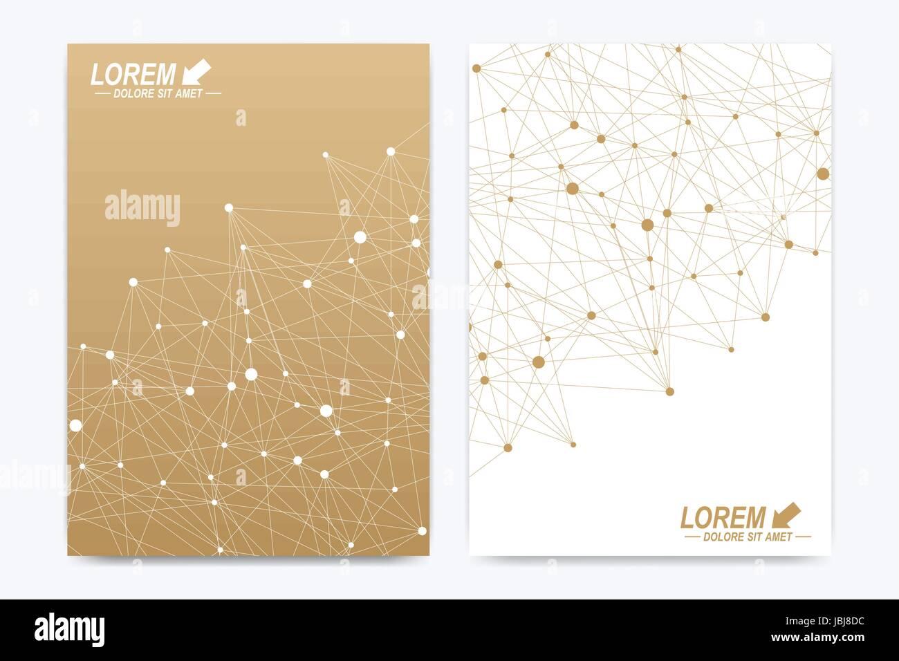 Vektor-Vorlage für die Broschüre, Broschüre, Flyer, Werbung ...