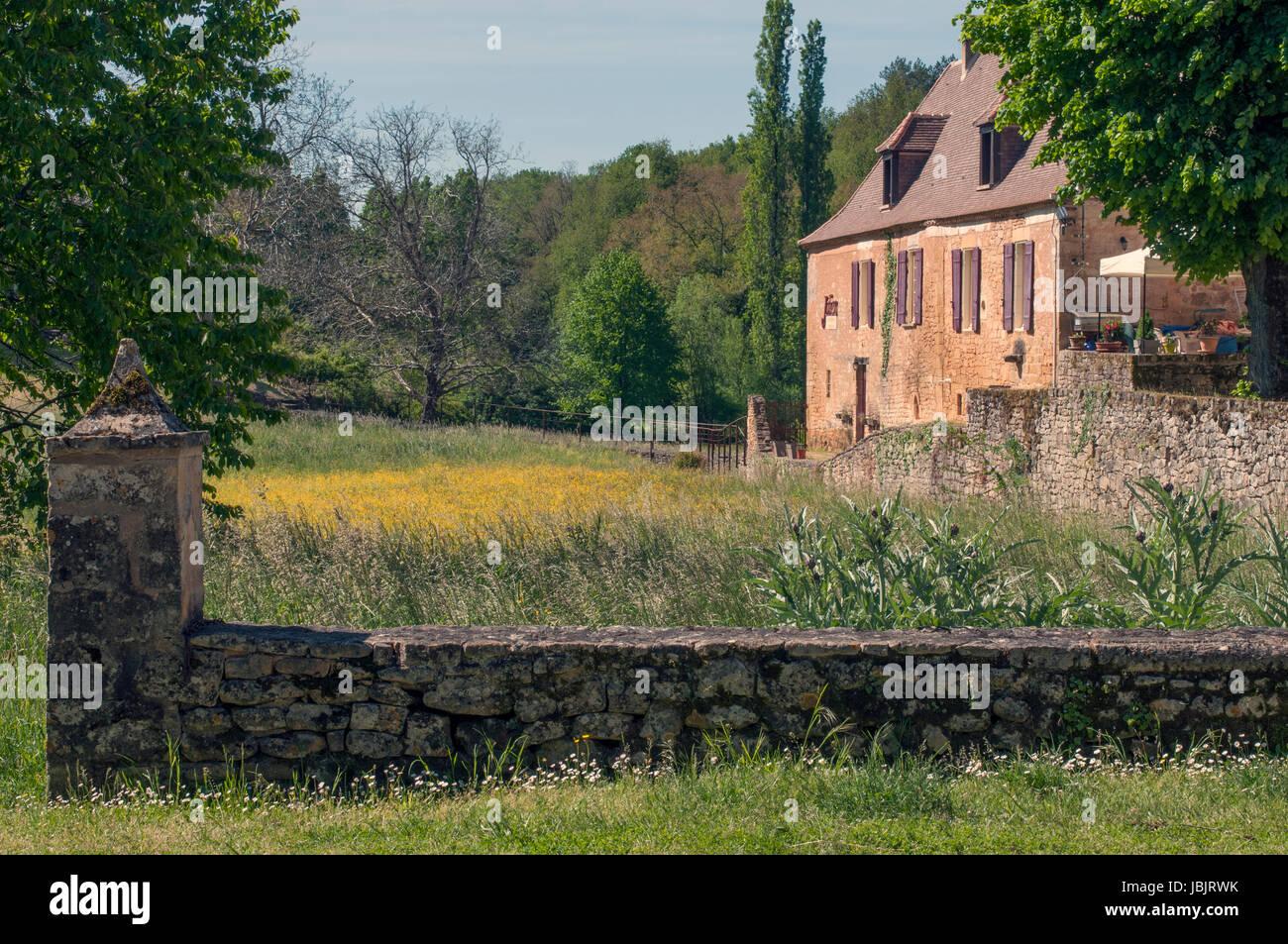 Paunat in der Dordogne-Departement von Frankreich. Das Departement Dordogne ist in der Nouvelle Aquitaine Frankreich Stockbild