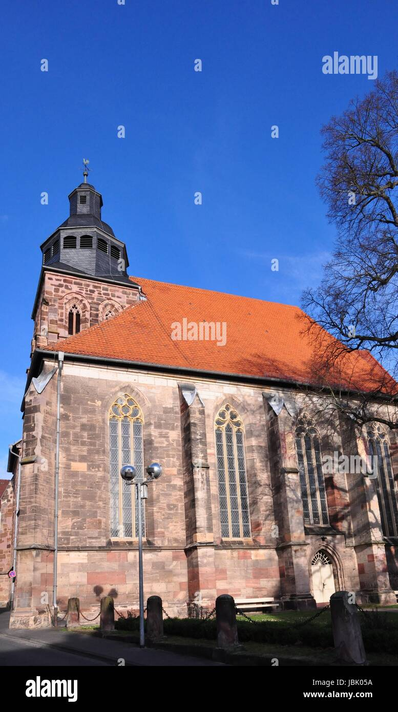 Die Kirche St. Dionys Stockbild