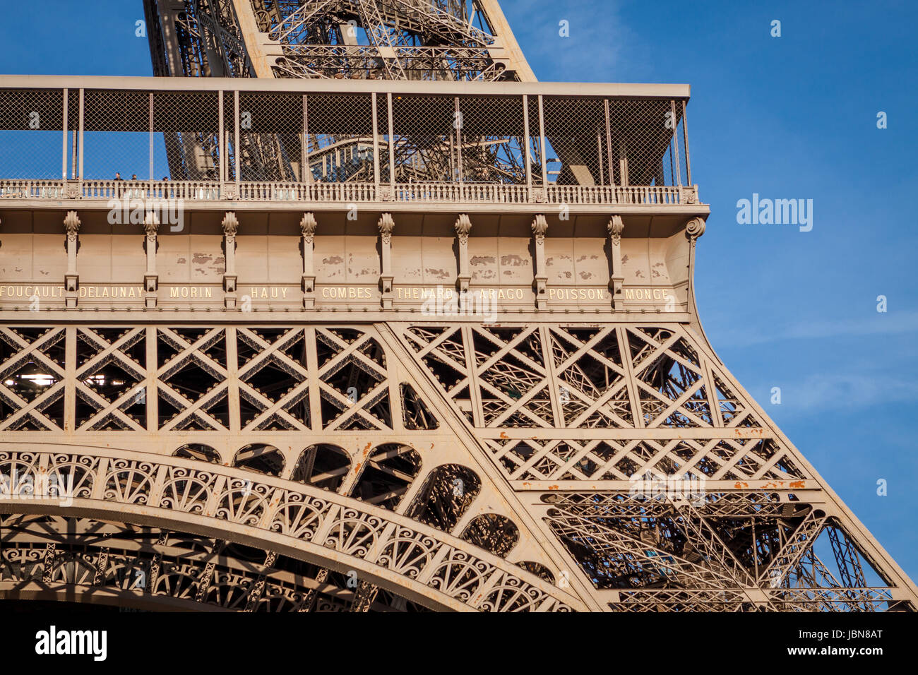 Eiffelturm in Paris Wahrzeichen Vor Blauem Himmel Im Frühling Architektur aussicht Stockfoto