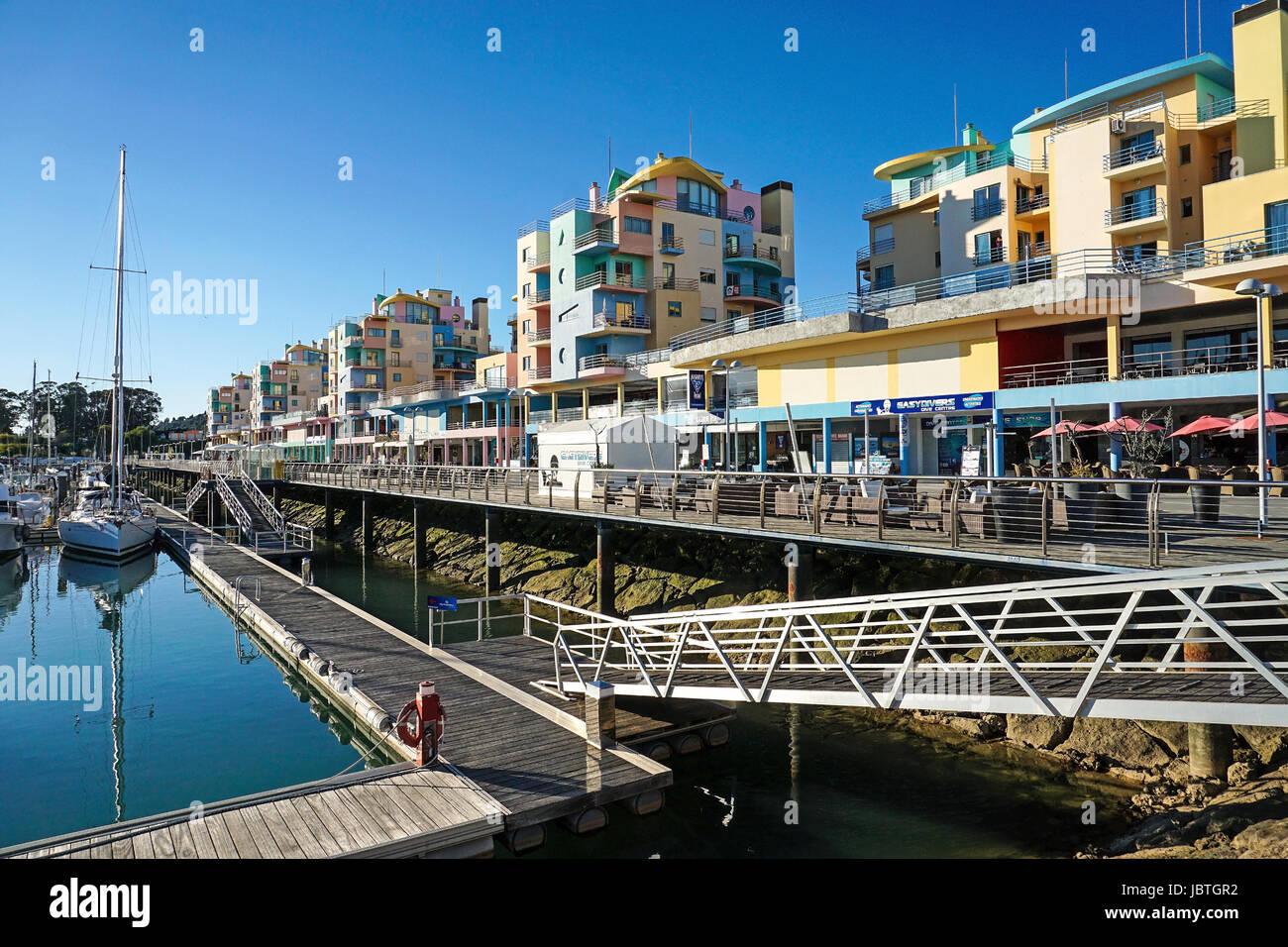 Europa, Portugal, Algarve, Albufeira, Marina, yacht-Hafen, Häuser ...
