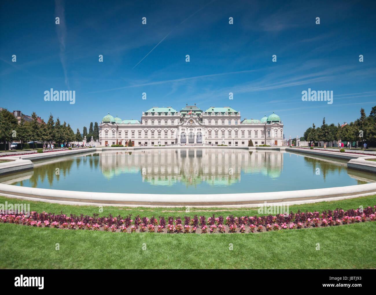 Das Schloss Belvedere in Wien, Österreich Stockfoto
