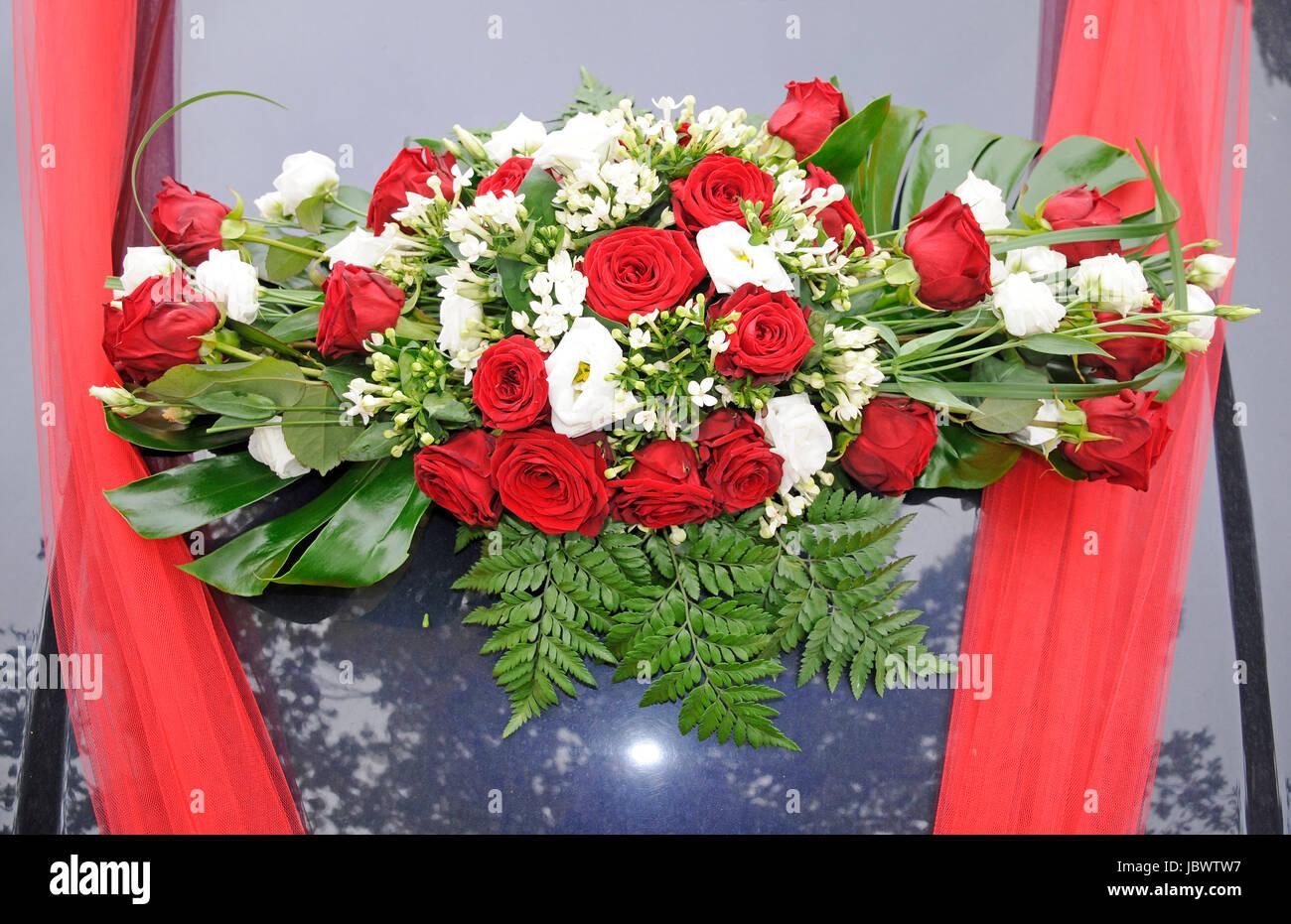 Hochzeitsschmuck Auto Hochzeit Heirat Jahrmarktssangerin