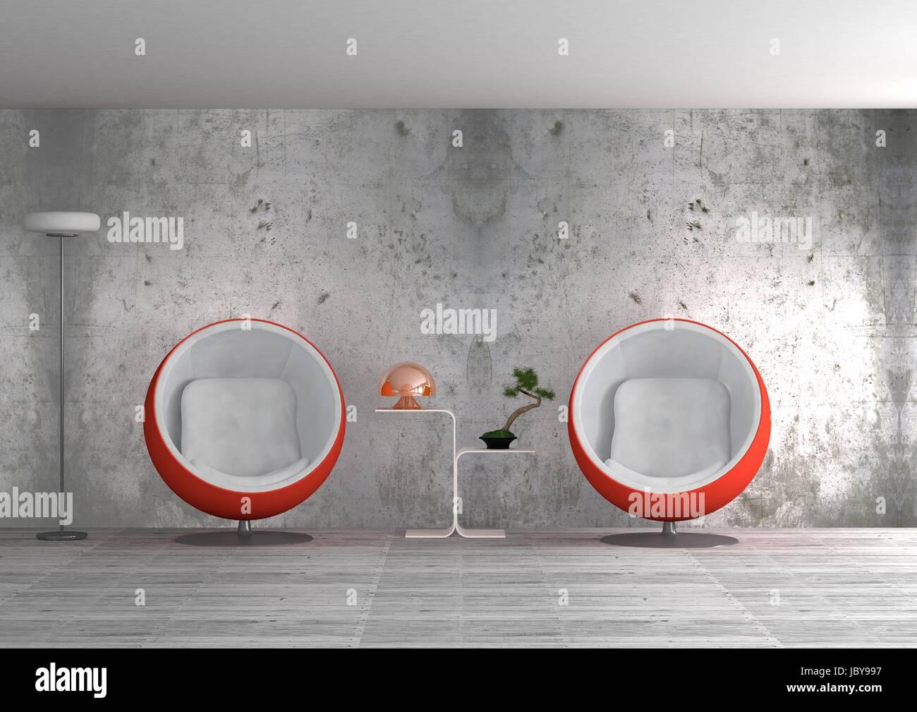 Interieur-Design Stockbild