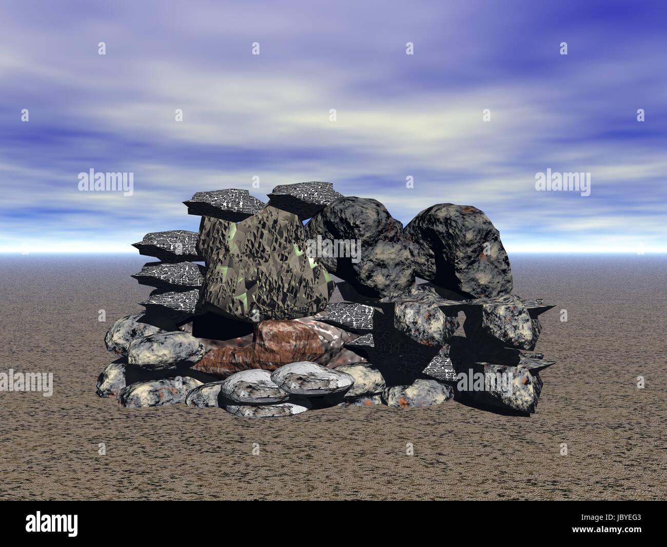Einsamkeit Computer graphics Stockbild