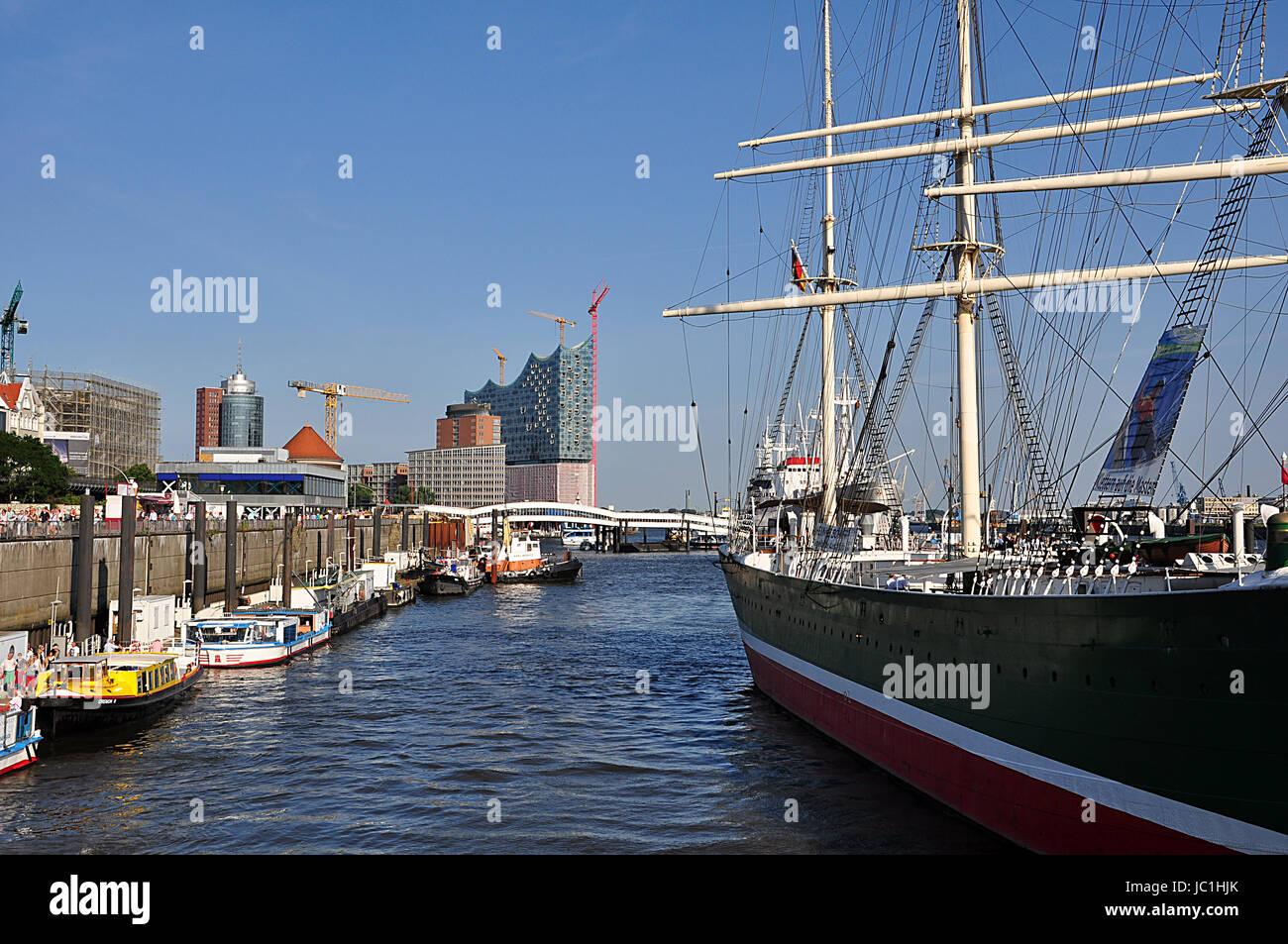 Segelboot in Hamburg Hamburg Stockbild