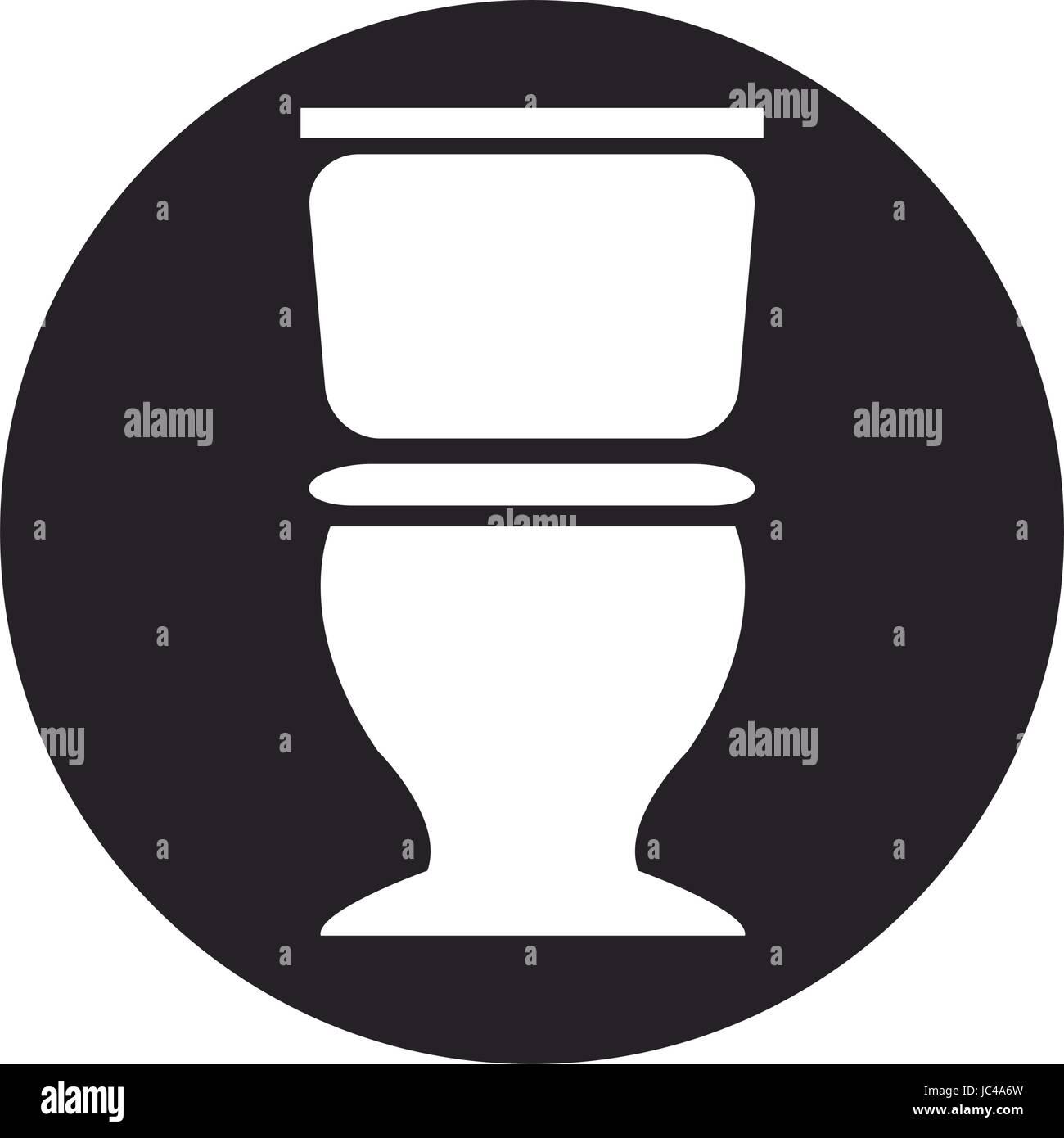 toilet bowl vector illustration isolated stockfotos. Black Bedroom Furniture Sets. Home Design Ideas