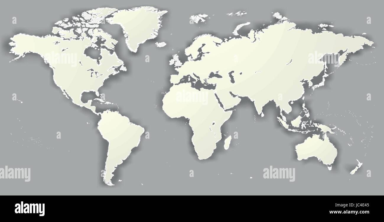 Berühmt Weltkarte Leere Vorlage Zeitgenössisch ...