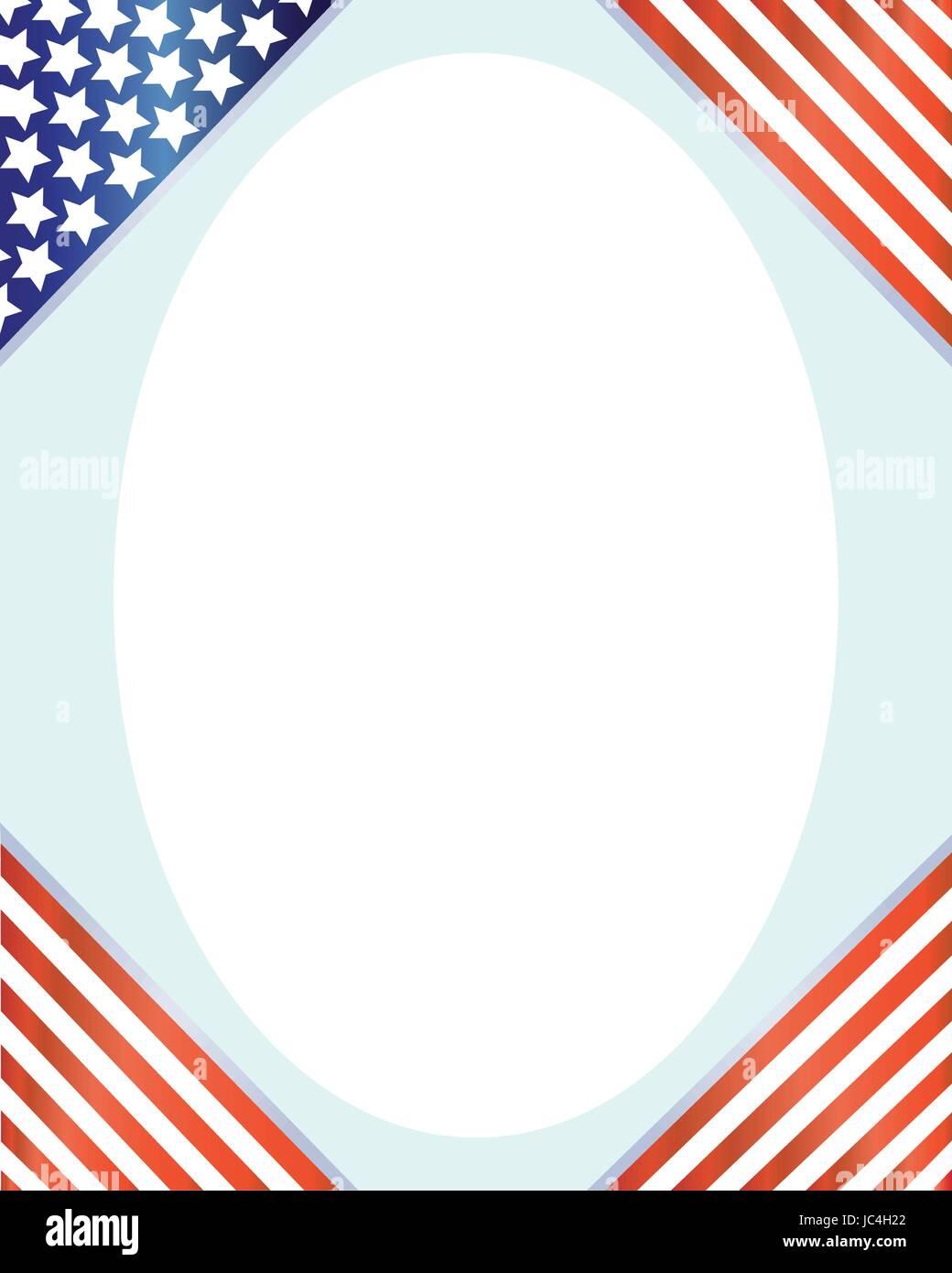 USA Flagge Ecke Frame-Vektor-Bild Vektor Abbildung - Bild: 145160010 ...